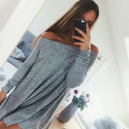 Long sleeve strapless dress