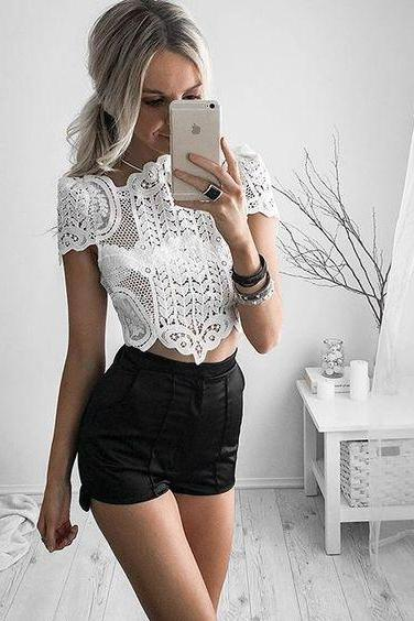 Fashion coat lace shirt